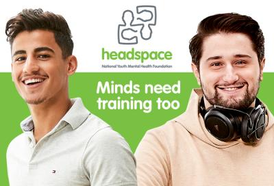 "Logo for headcoach, ""Minds need training too"""